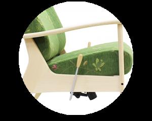 骨折と椅子