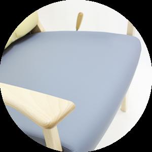 椅子防水シート張り